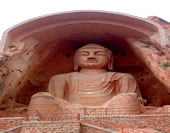 The Photo of Buddha on Mogao Grottoes