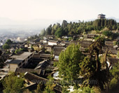 Overlook the Houses of Lijiang City