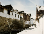 The Picture of Local Buildings in Lijiang