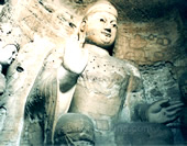The Picture of Buddha at Yungang Grottoes
