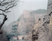 Overlook the Yungang Grottoes
