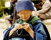 An Old Granny at Lijiang Ancient City