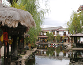 The Picture of Houses at Lijiang City