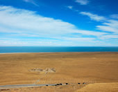 The Beautiful Sky and Land at Qinghai Lake