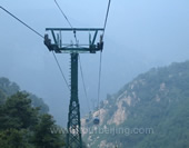 The Cable Car of Tai Mountain
