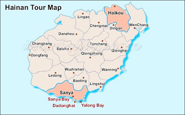 Hainan Map , Map of China , Hainan and City Maps