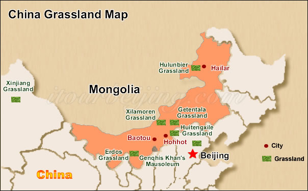 Inner Mongolia Map Map of China Inner Mongolia and City Maps