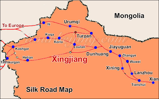Map Xinjiang.Xinjiang Map Map Of China Xinjiang And City Maps