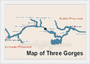 Map of Three Gorges